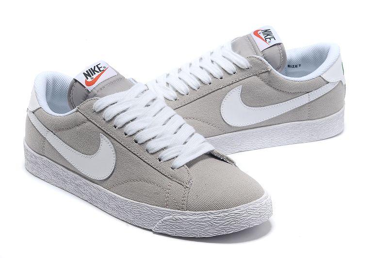 Nike Blazer Low Men's Skateboarding Shoes Inspiration grey ...
