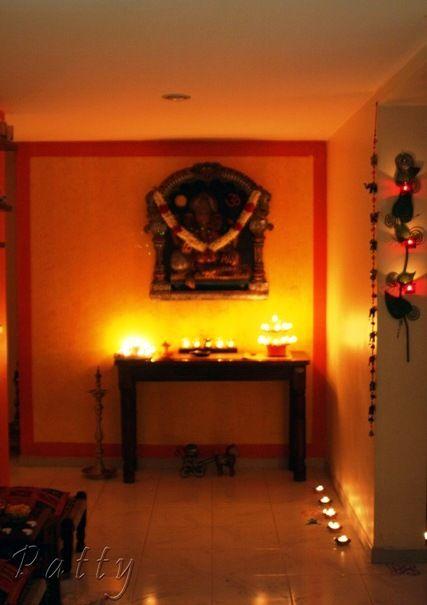 Home decoration for diwali diya drawing