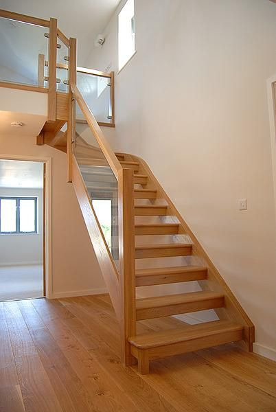Best White And Wood Open Tread Stair Google Search Stairs 400 x 300