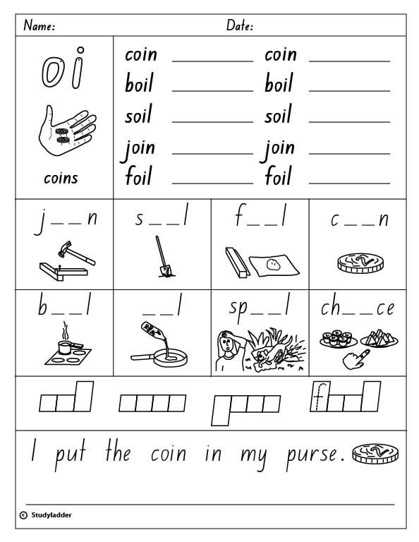 Vowel Digraph Oi English Skills Online Interactive Activity Lessons Phonics Worksheets Phonics Phonics Activities Oy oi worksheets