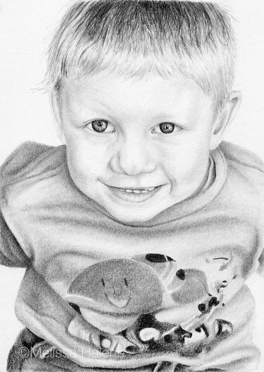 Kenny | Melissa Helene Fine Arts 5x7 graphite portrait www.melissahelene.com #portrait #graphiteportrait #childportrait #kids