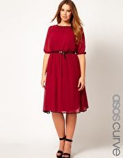 ASOS CURVE Exclusive Midi Dress With Contrast Piping