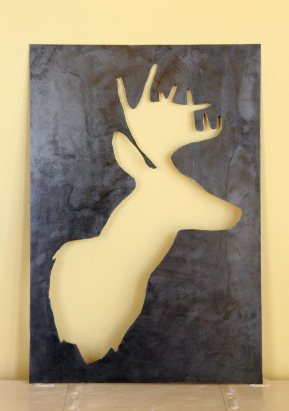 Deer Silhouette Wall Decor | home decor for living room, office, man ...