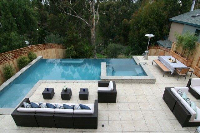 Piscinas de diseño moderno - 75 ideas fabulosas | Jardín moderna ...
