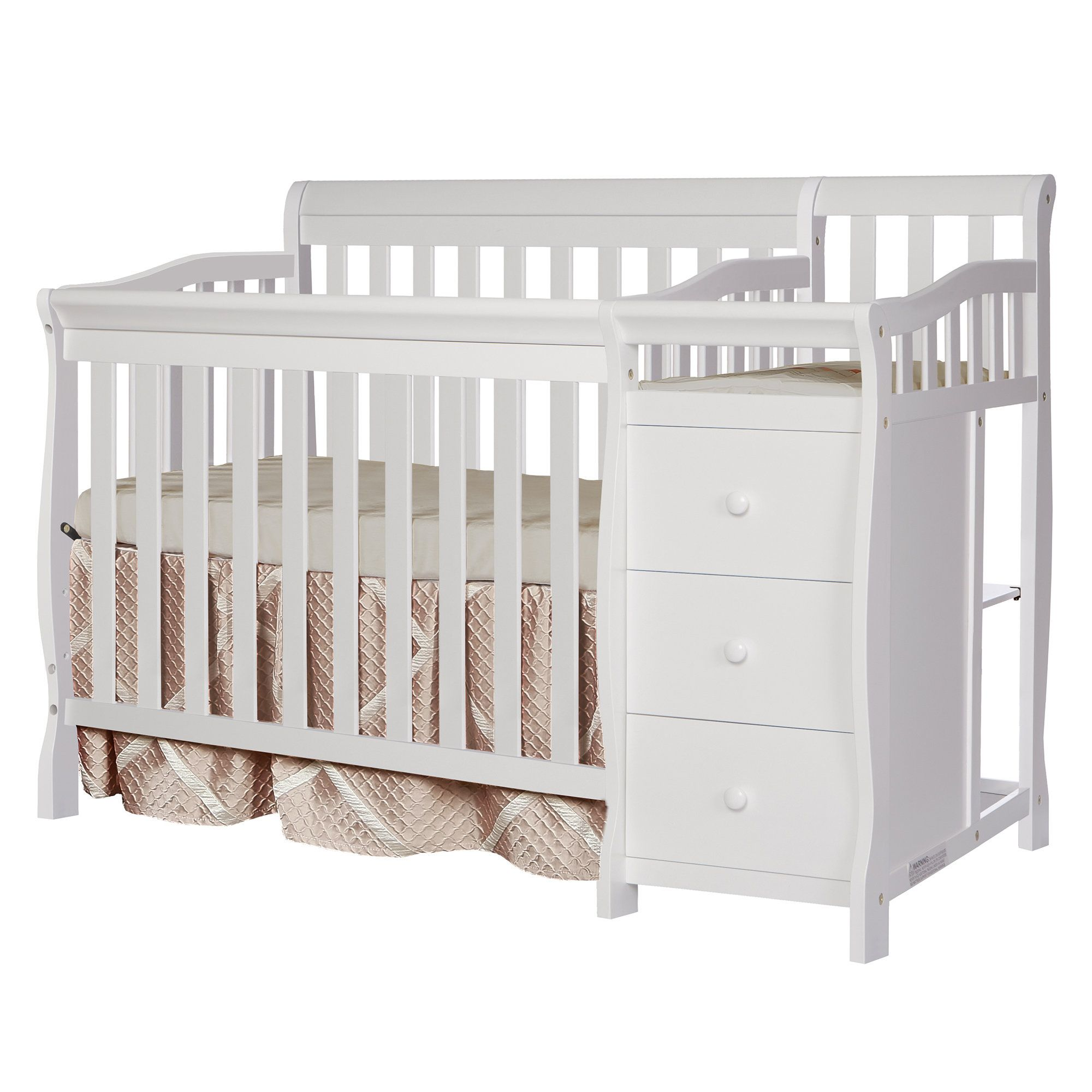 Jayden 3 In 1 Convertible Crib And Changer Cribs Convertible Crib Mini Crib