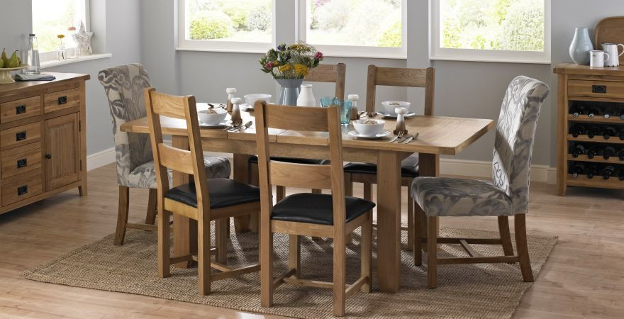 Maine Extending Dining Table Set Of 4 Ladderback Chairs 799 Dfs