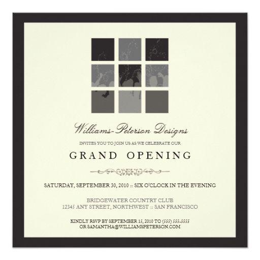 Tba Modern Blocks Grand Opening Invite Black Zazzle Com Grand Opening Invitations Event Invitation Templates Grand Opening