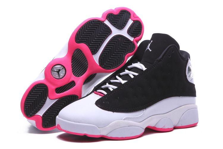 Air Jordan 13 zapatos negro blanco rosado 2015 de las mujeres � Pink  WhiteWhite GirlsJordan 13Curry ShoesOnline ...