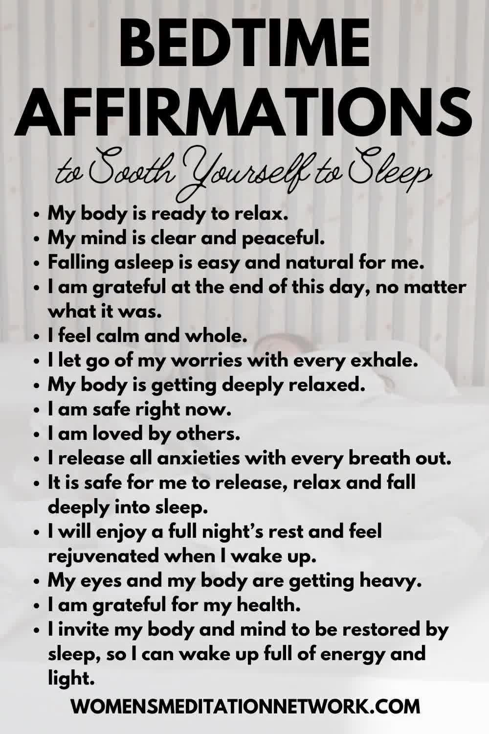 Soothing Bedtime Affirmations To Help You Sleep Better