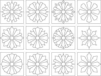 dresden plate quilt blocks | paterns | Pinterest | Dresden plate ... : quilting stencils canada - Adamdwight.com
