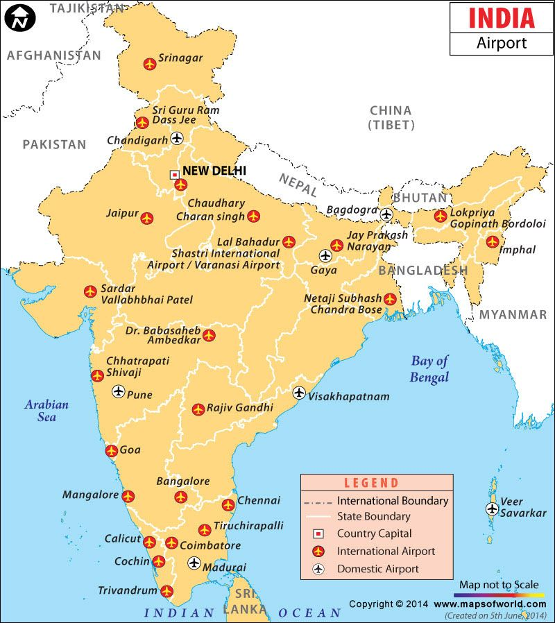 Airports in India Airport map, India map, Airport