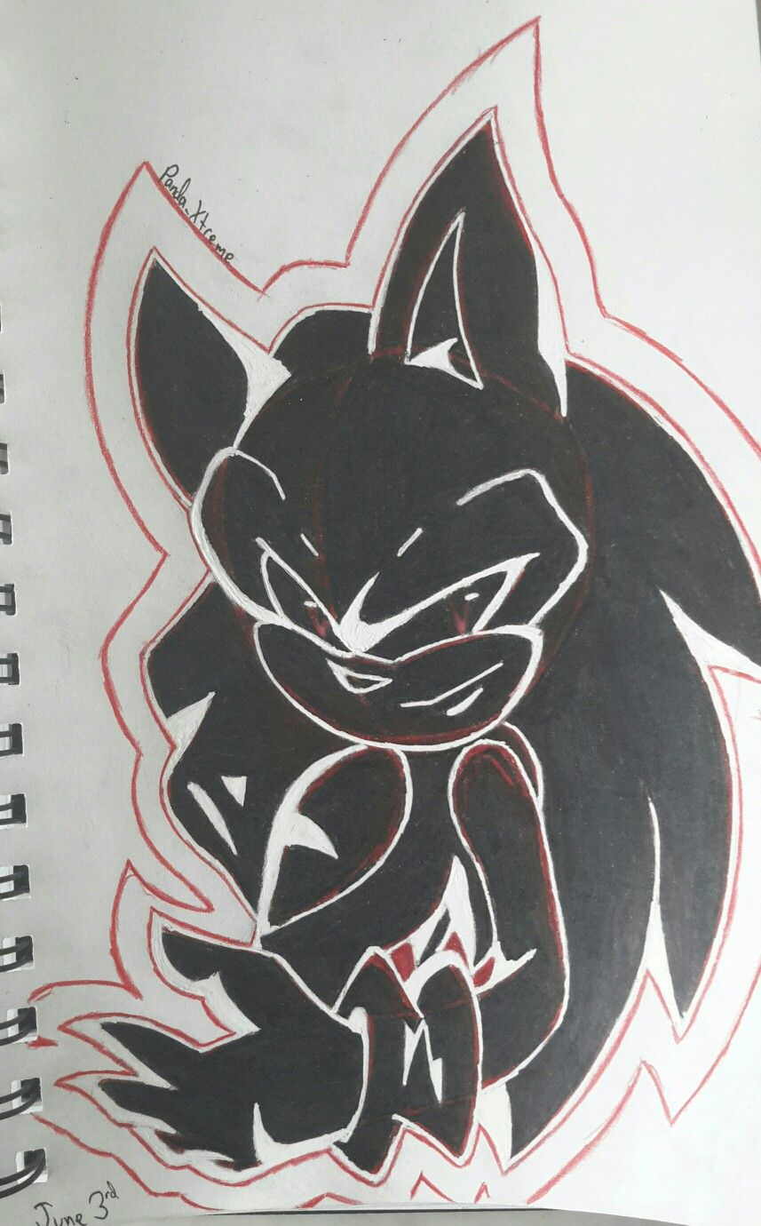 Sonic Exe Xtremethepanda Original Art By Sonadowroxmyworld My Drawings Art Original Art