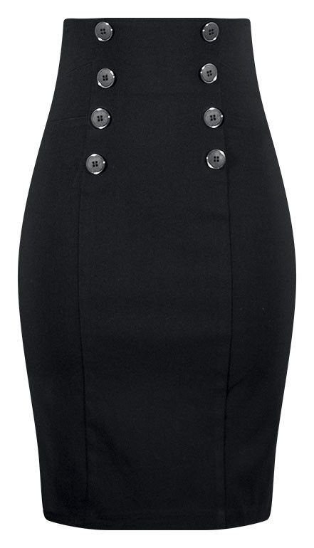 High Waisted Pin Me Up Pencil Skirt | Wanna Wear It ...