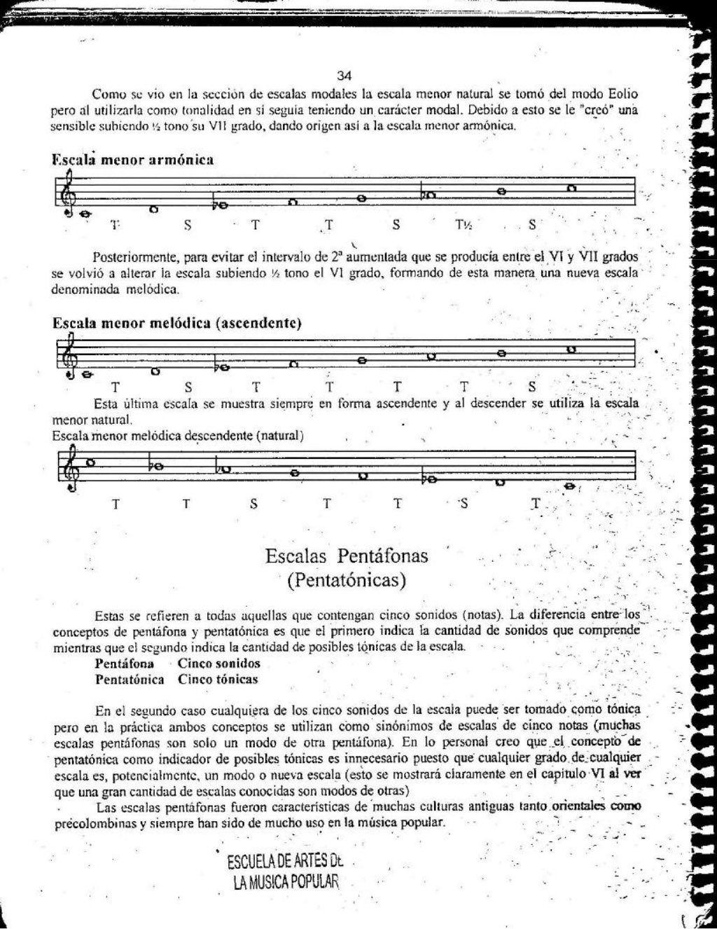 El Libro De Las Escalas En 2020 Acordes Musicales Libros De Música Composición Musical