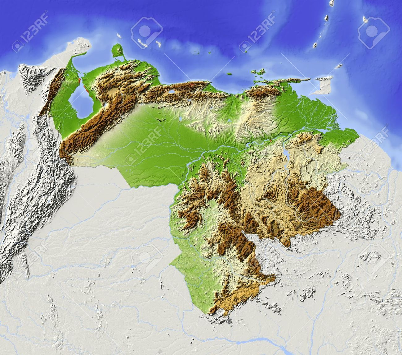 Political Map Of Venezuela And Venezuela Details Map Quotes - Venezuela cities small scale map