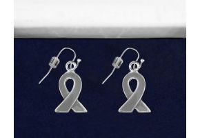 Gray Ribbon Hanging Earrings - (E-10-7)