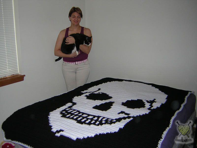 free skull knitting pattern