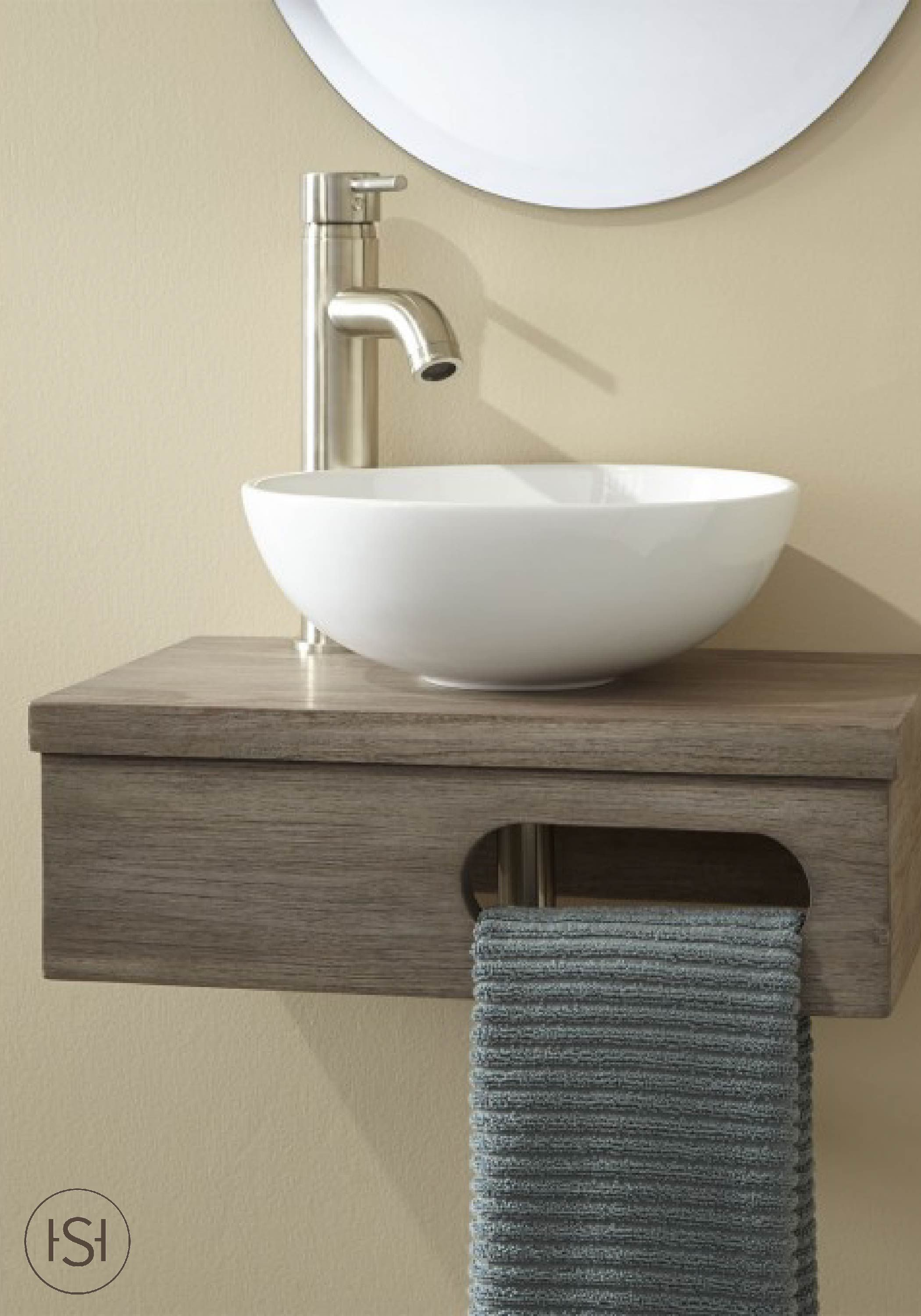 Function And Style Come Together In This Earthy Vanity By
