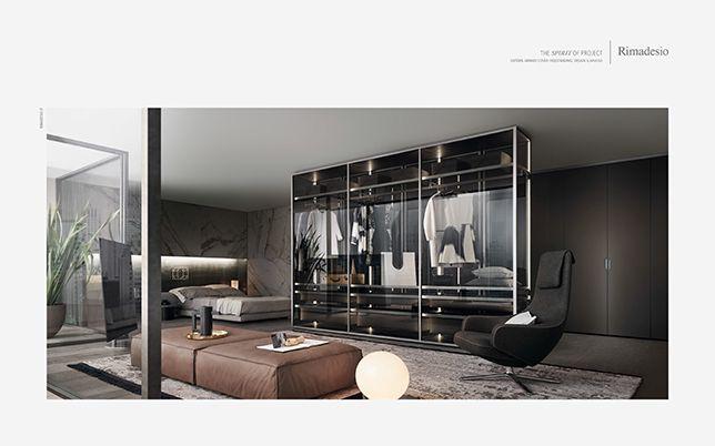 Porte Cabina Armadio Rimadesio : Campagna stampa porte scorrevoli in vetro e alluminio librerie