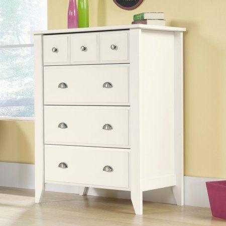 Sauder Shoal Creek 4 Drawer Dresser Soft White Finish Walmart Com Sauder Furniture Innovative Furniture Sauder