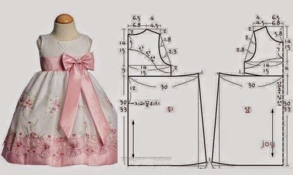 2bccdff6d Patrones para hacer vestidos para niñas de 3 – 5 años | Molderia y ...