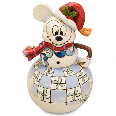 Santa Snowman Mickey Mouse Figurine by Jim Shore - Item No. 302396P, $24.95 sale $19.99