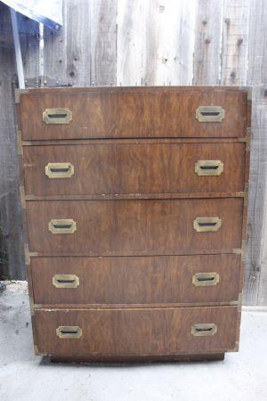 #vintage #furniture for sale #campaign dresser #custom made Vintage Campaign Chest Dresser