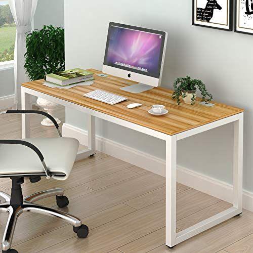 SHW Home Office 55-Inch Large Computer Desk, Walnut SHW