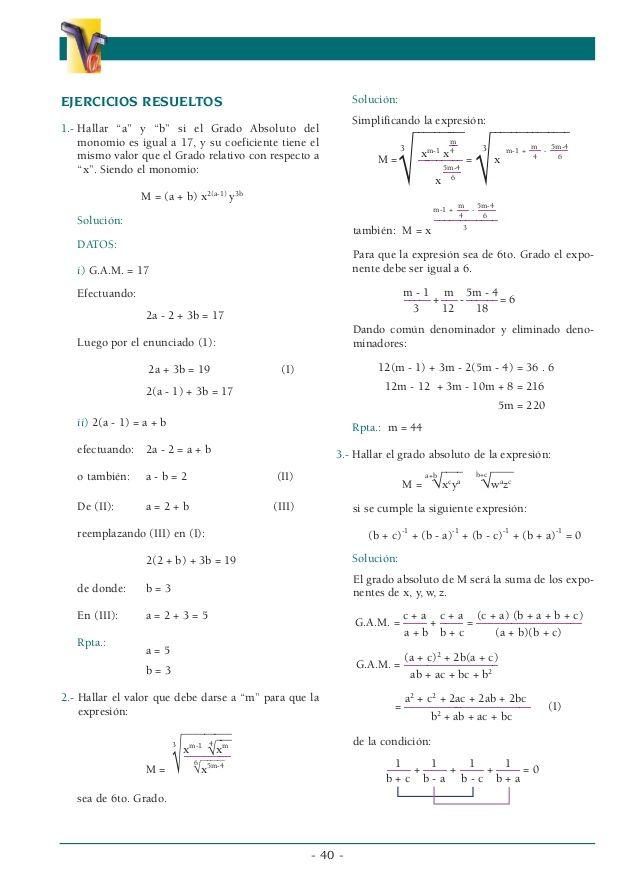 Algebra Pre Universitaria Tecnicas De Lectura Libros De Matemáticas Problemas Matemáticos