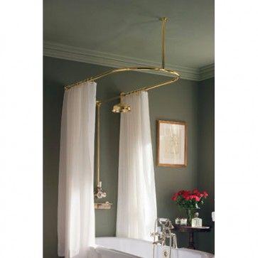 Myson Pecos U Shaped Shower Curtain Rail 48 X 28 Curtains
