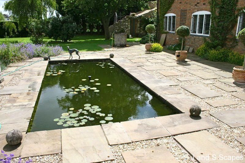 Formal Pond Landscape Water Feature Pinterest