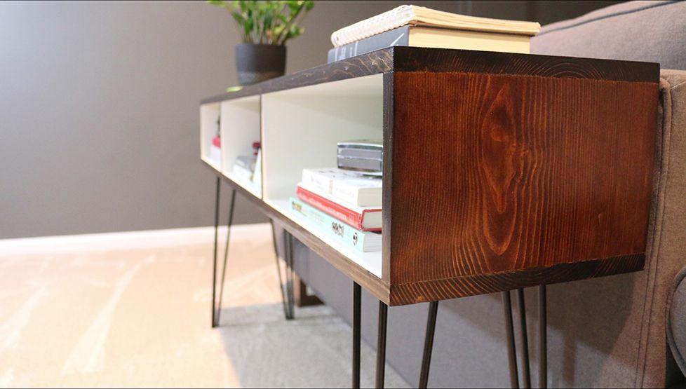 Groovy Build A Mid Century Modern Sofa Table Diywithrick Diy Ncnpc Chair Design For Home Ncnpcorg