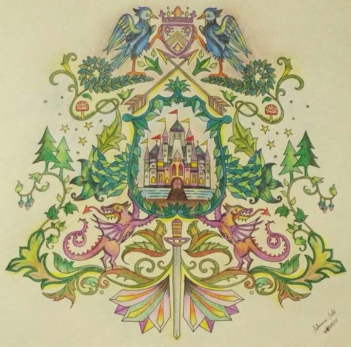 Floresta Encantada/ Brasão Castelo /Johanna Basford
