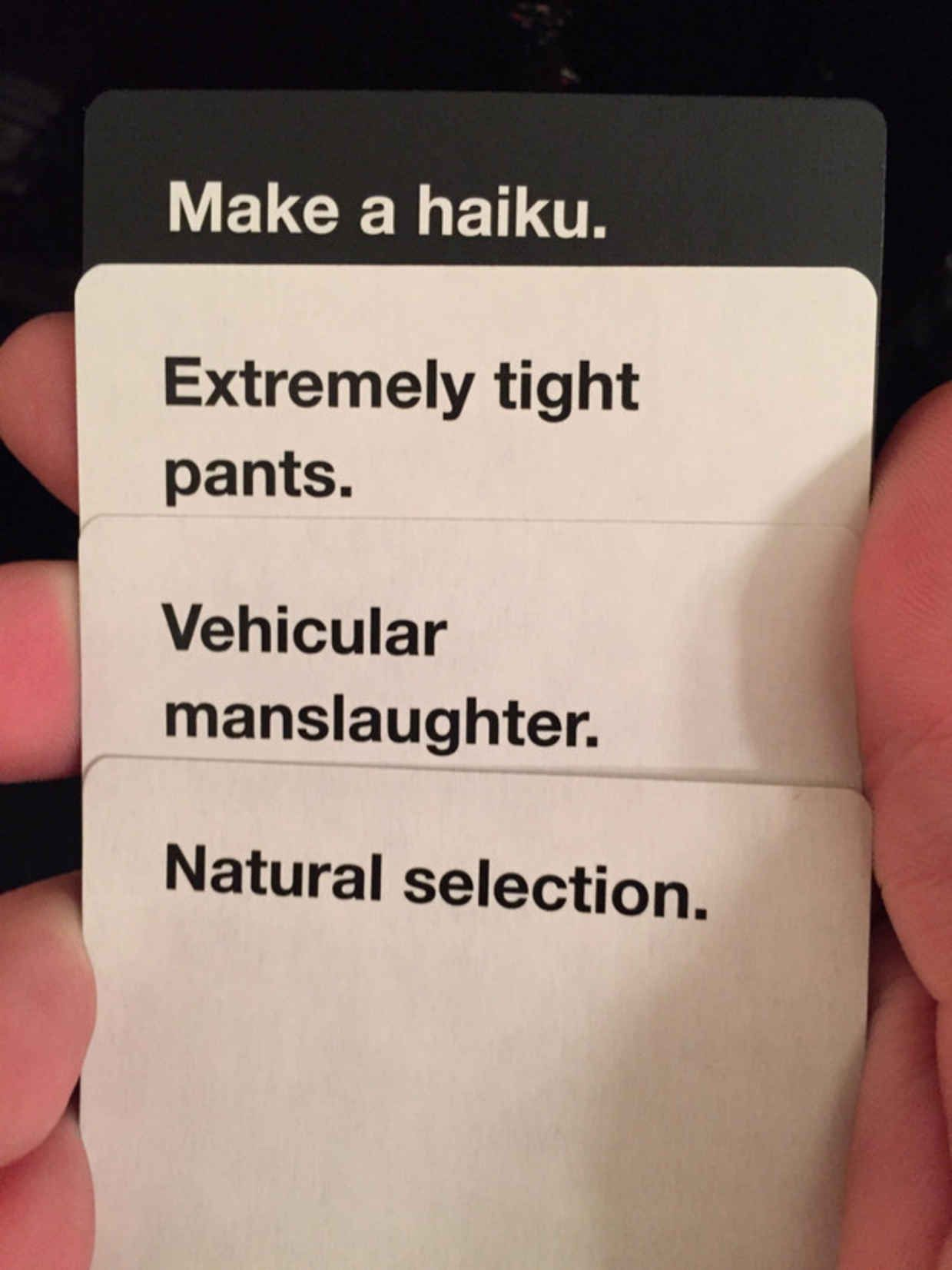 17 cards against humanity combinations that are