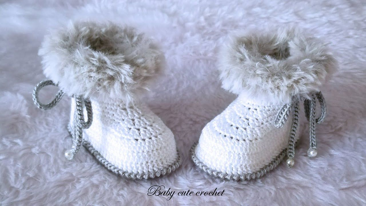 Photo of Botitas de bebé a crochet, crochet baby booties