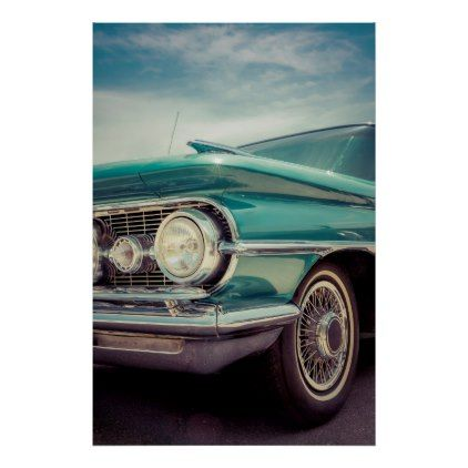 Classic car photo poster | Zazzle.com