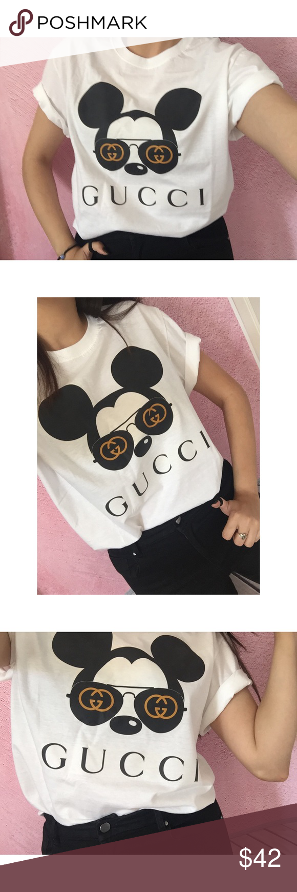 ad13b9943 Gucci x Disney Mickey Mouse T-Shirt *Not authentic Ultra cute, cool ...