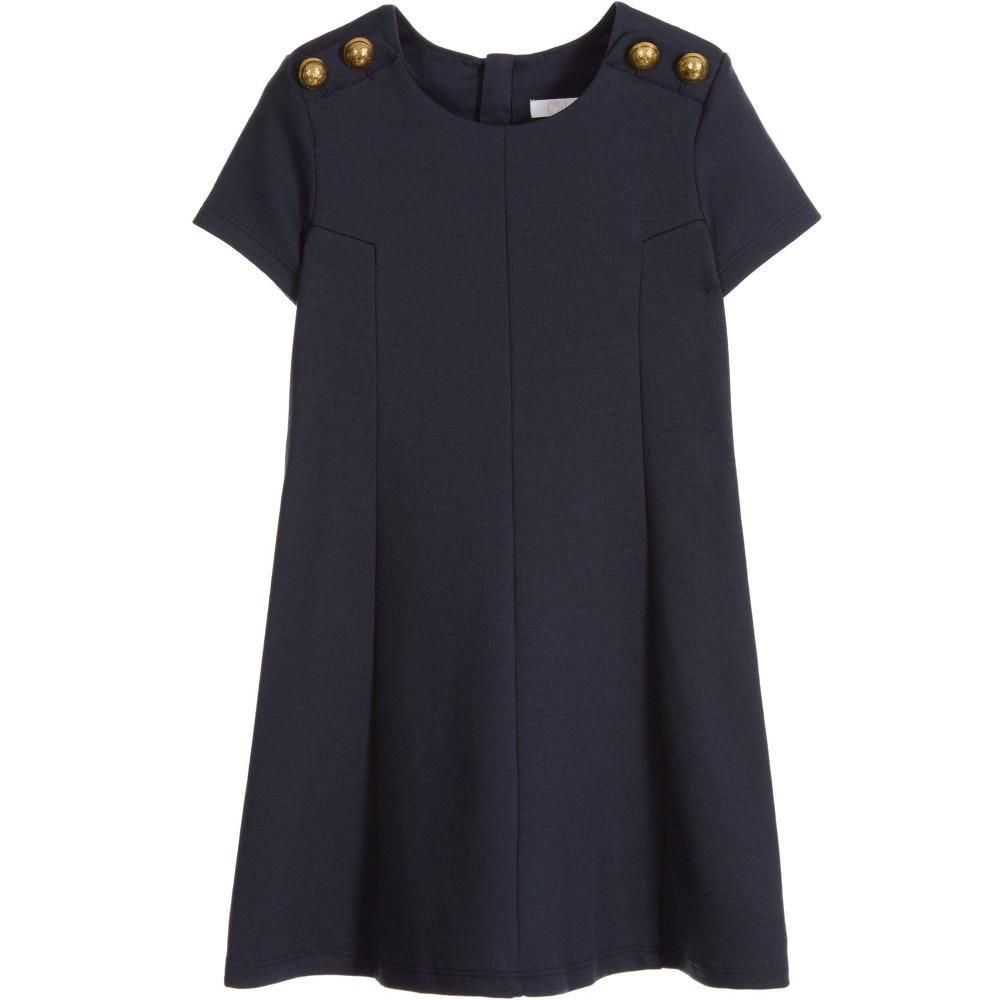 548fa912b9 Chloé Girls Fancy Navy Blue Dress