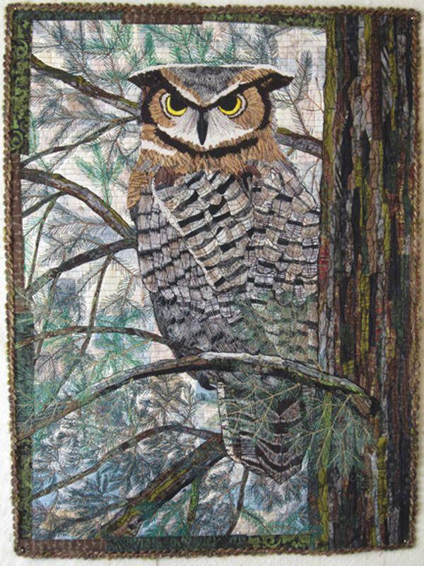 Great Horned Owl by Barbara Strobel Lardon