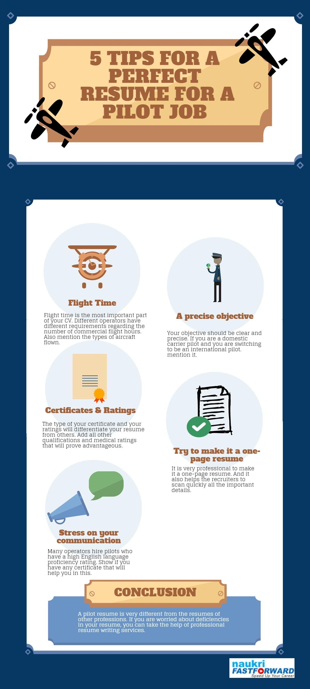 tips for a perfect resume for a pilot job airlinecareers