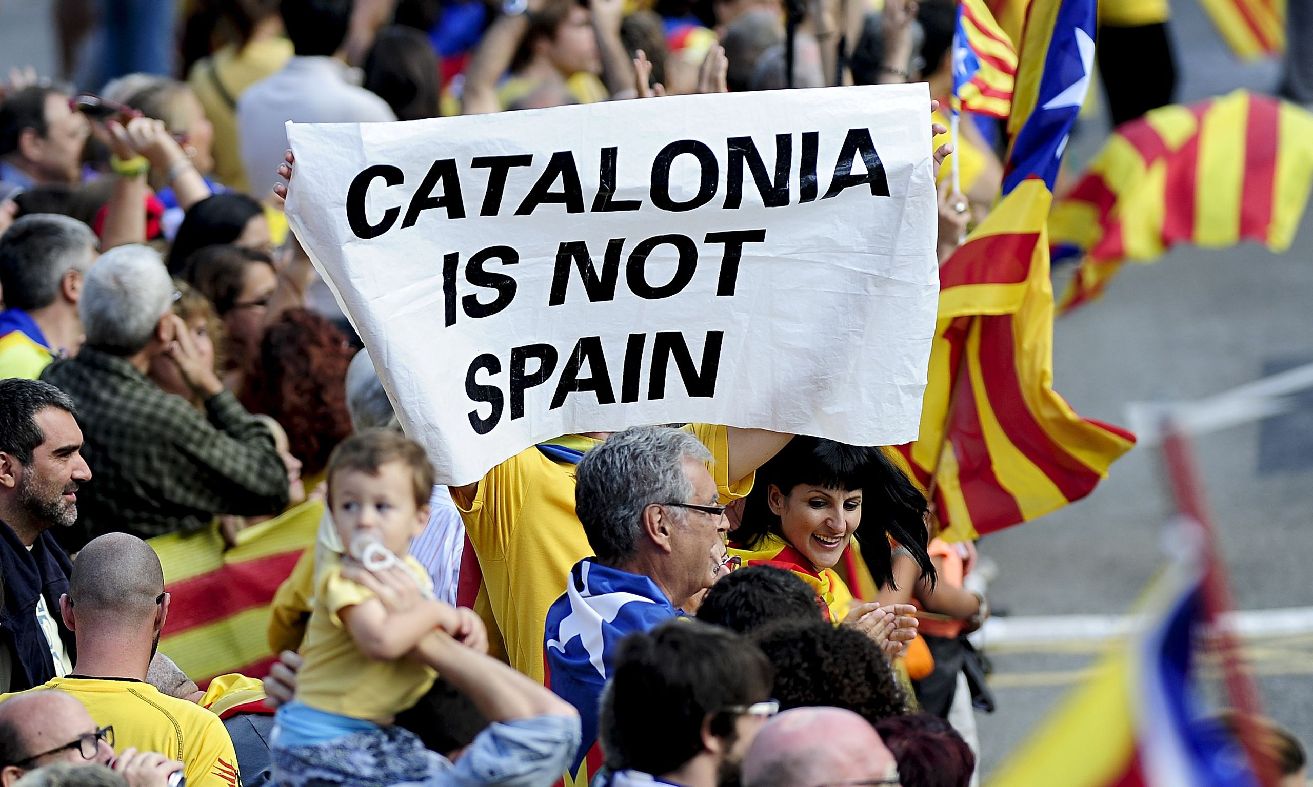Catalans to demonstrate and demand right to hold referendum - theguardian.com, Stephen Burgen, 11 September 2014.