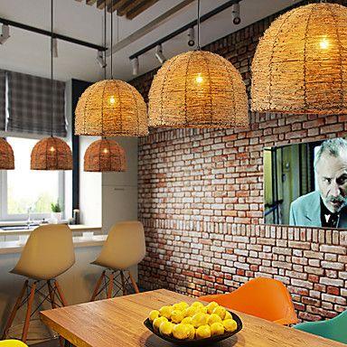 Ljuskronor , Rustik Rektangulär Särdrag for designers Trä/BambuVardagsrum Sovrum Dining Room Skaka pennan och tryck på spetsen innan du 5217552 2017 – Kr.19,356