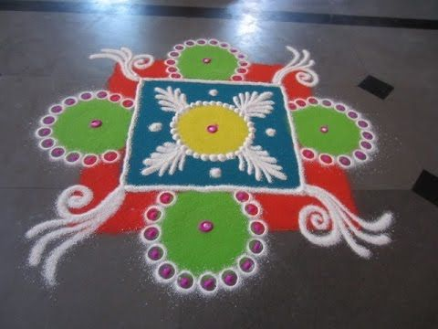 Latest Rangoli Design For Navratri And Diwali Find More Simple Beautiful Techniques Beginners