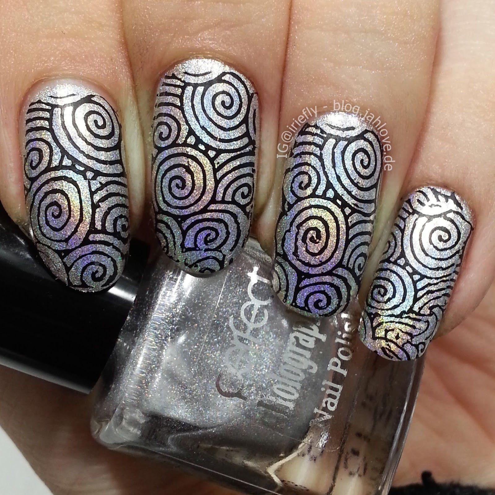 ".:: blog.jahlove.de ::.: [Nails] Holo-Stamping mit Perfect Holographic Nail Polish ""H2"""