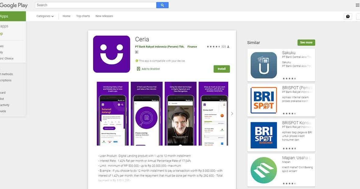 Cara Menggunakan Aplikasi Pinjaman Online Ceria Bri Untuk Belanja Pinjaman Aplikasi Belanja