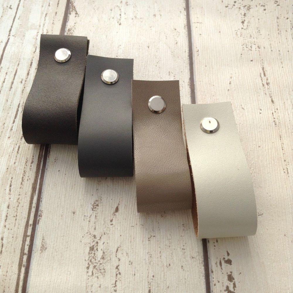 Details About Leather Minimalist Drawer Pull Door Handles Dresser