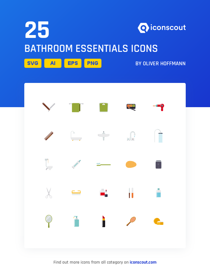Download Download Bathroom Essentials Icon pack - Available in SVG ...
