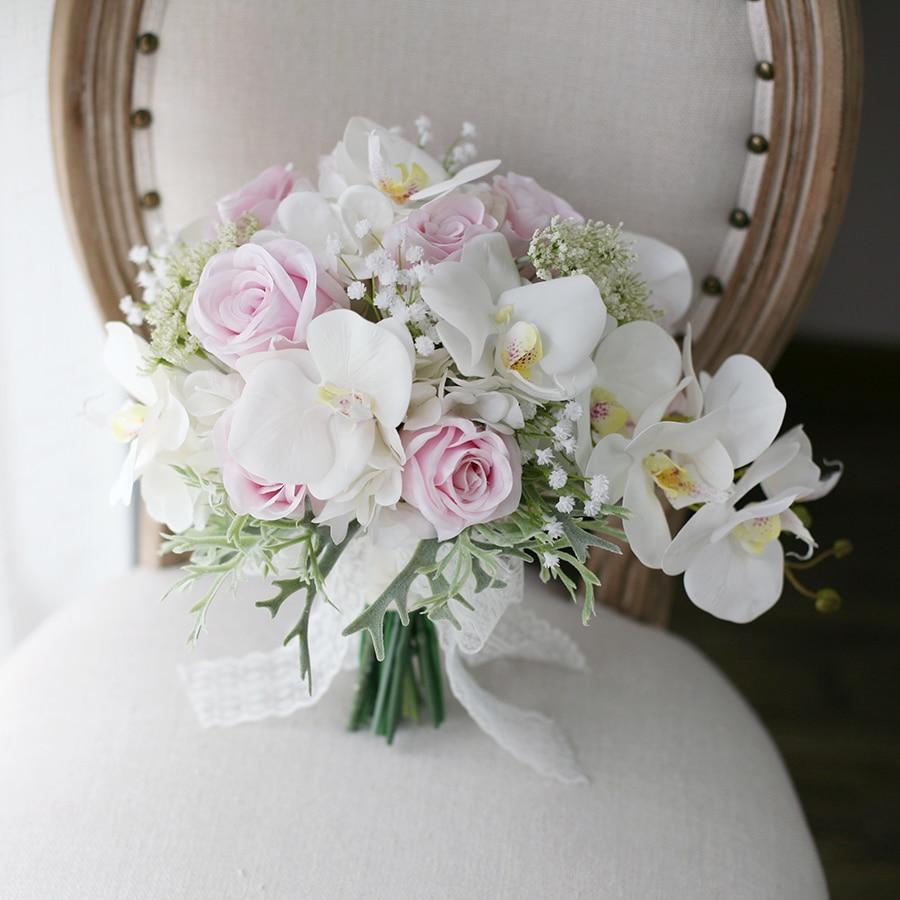 Cascading blush pink wedding bouquet cascading bridal