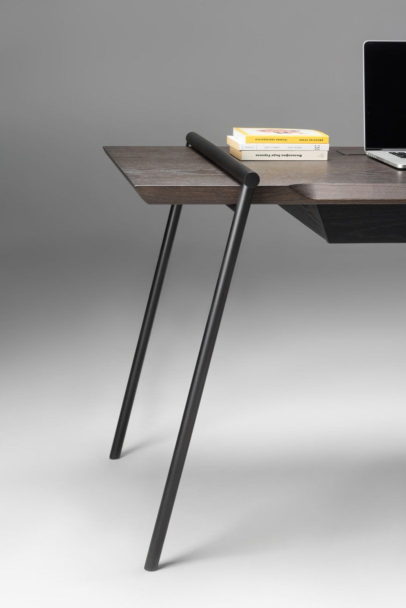 Duoo Is A Modern Writing Desk Stripped Of Unnecessary Details Writing Desk Modern Desk Modern Design Furniture Design Modern