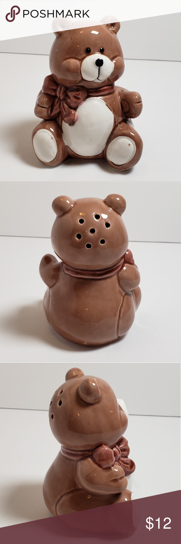 Vintage 80s Teddy Bear Shaker